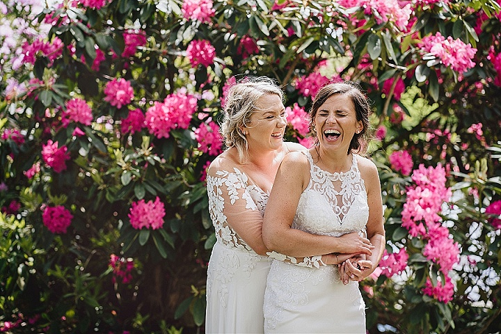 Charlotte and Emma's Blush Pink Rustic Barn Wedding in Devonby Helen Lisk Photography