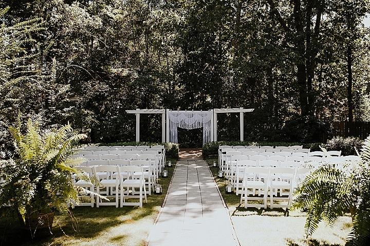 Jaden and Michael'sBoho Chic Garden Wedding in Georgia Atalie Ann Photo