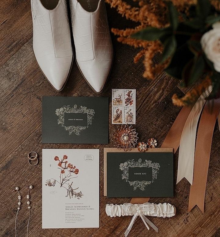 Ashley and Brendan's Eco Friendly Boho Vineyard Wedding in Kansas by Brooke Buck Photography