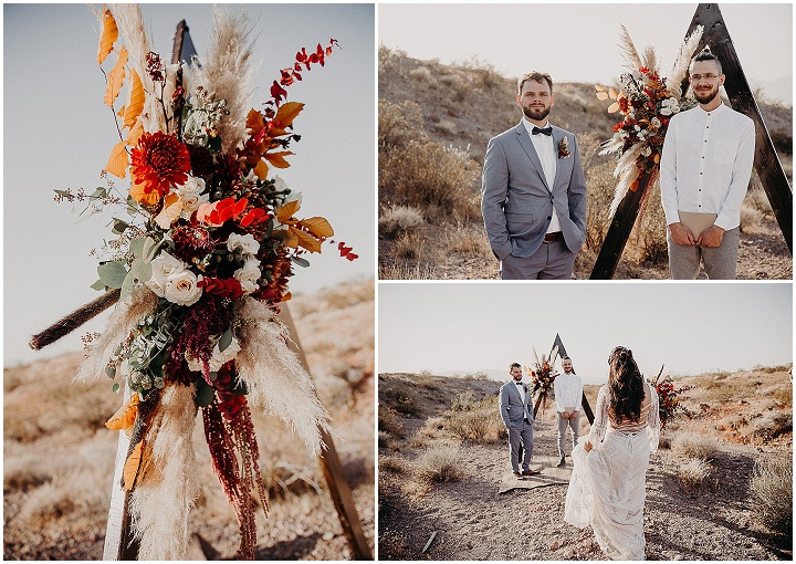 Thais and Mark's Las Vegas Desert Elopement Planned in Under a Week by Aline Marin Photography
