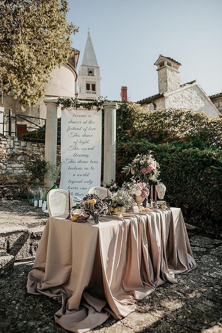 'Roman Hedonism' Romantic and Dreamy Wedding Inspiration From Croatia