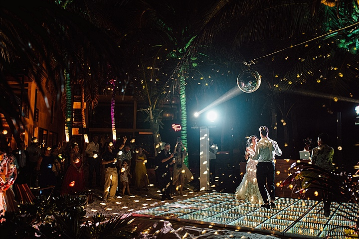Jazel and Jeremy's 'Tropical Modern Boho' Mexico Beach Wedding With Lots of Tequila