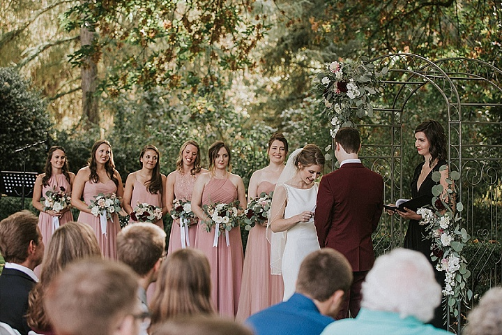 Angela and Garrett's Vintage Garden Wedding in Oregon by Here Today Photography
