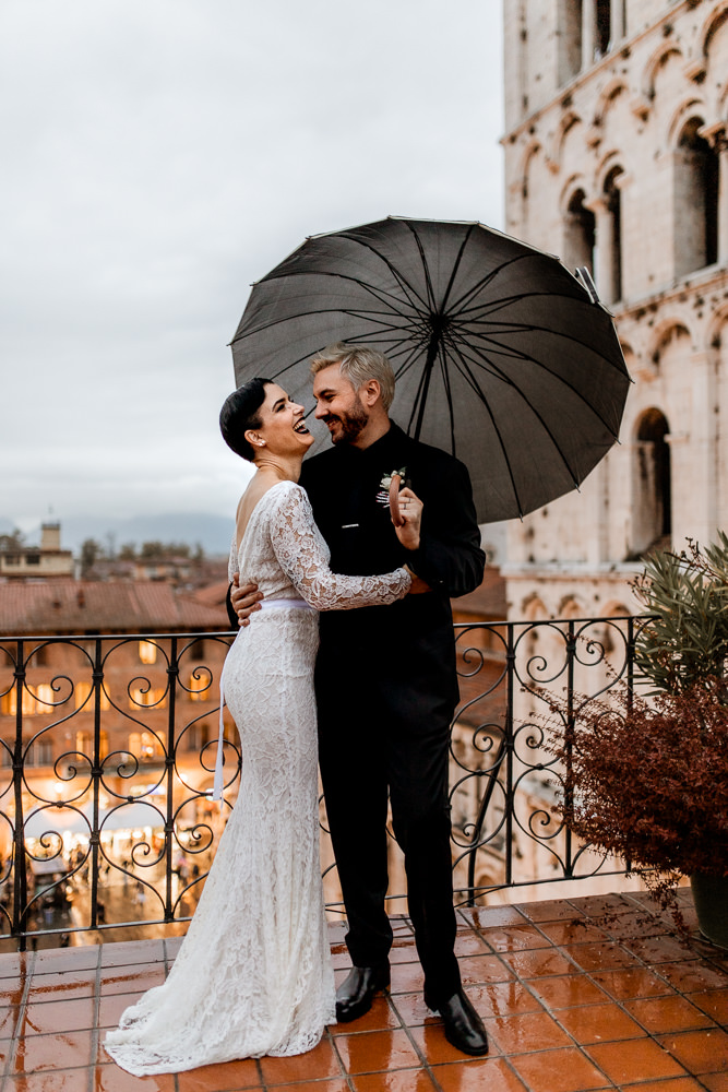 Megan and Donny'sUnique Halloween Elopement in Italy by Alessia Angelotti