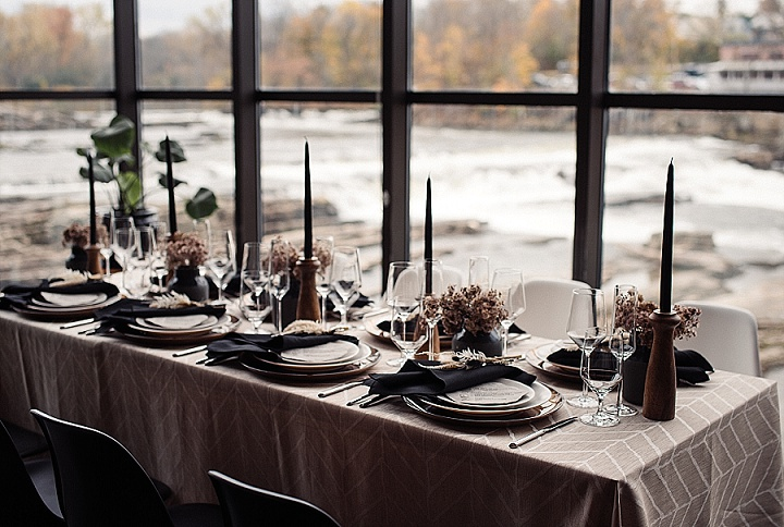 Black and White Dresses and a Chic Colour Palette - Modern Meets Industrial Boho Wedding Inspiration