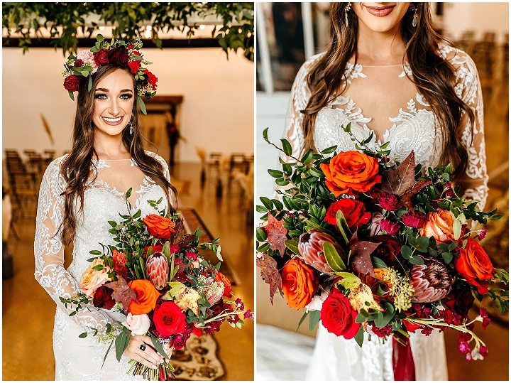 Brenna and Tyler's Colourful 70's Themed Flower Filled Festival Wedding by Jackie McGinnis Photo