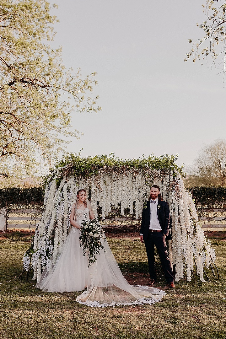 Dominique and Nelson's Garden Oasis Wedding in Arizona with Celestial Accents by Suzy Goodrick Photography