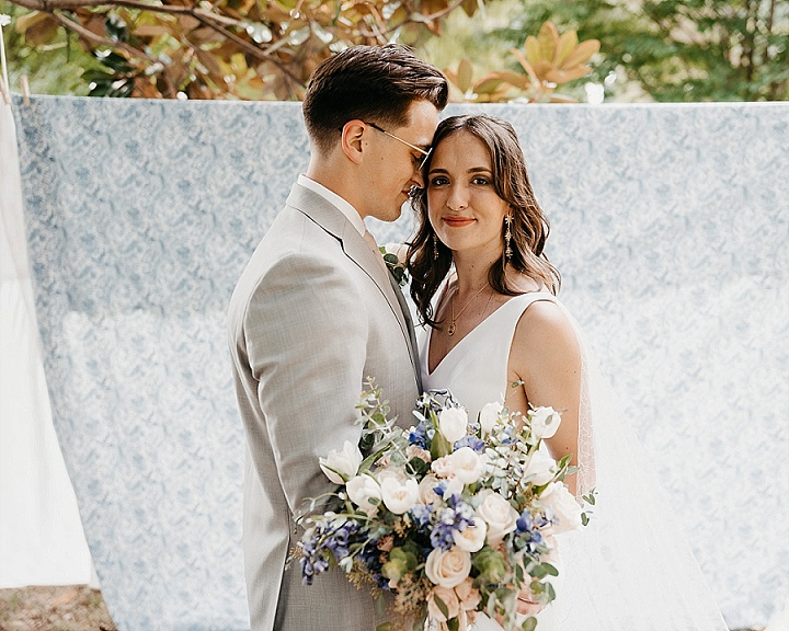 Molly and Damian's Whimsical 'Cottagecore' Backyard Summer Wedding by William Avery Photography