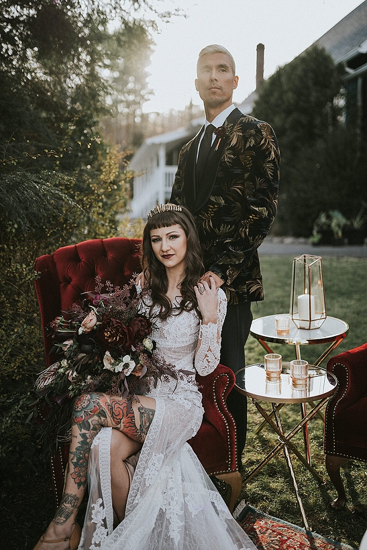 'Velvet Dream' Dark, Moody and Luxurious Wedding Inspiration